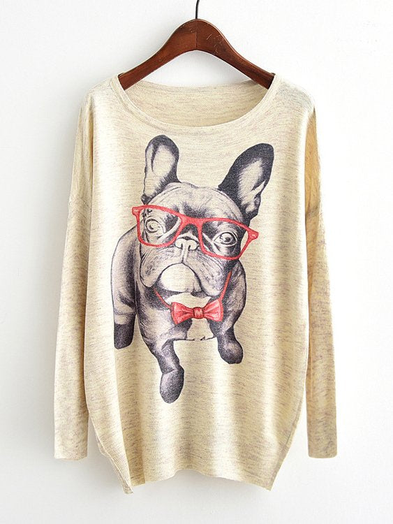 Frenchie Drop Shoulder Slub Sweater