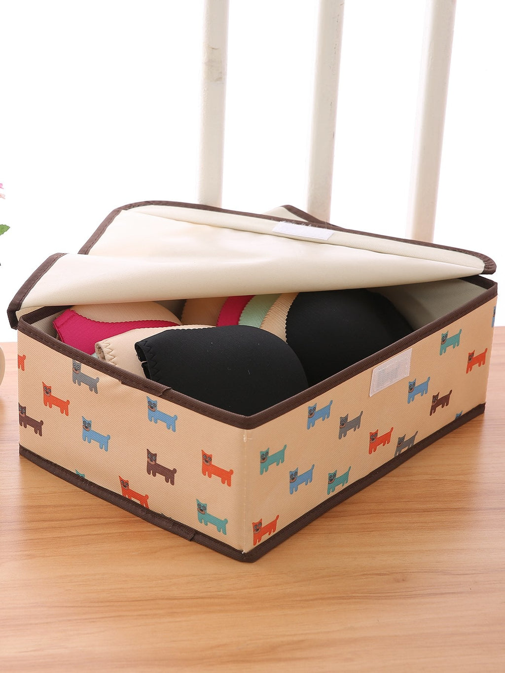 Dog Print Organizer Box