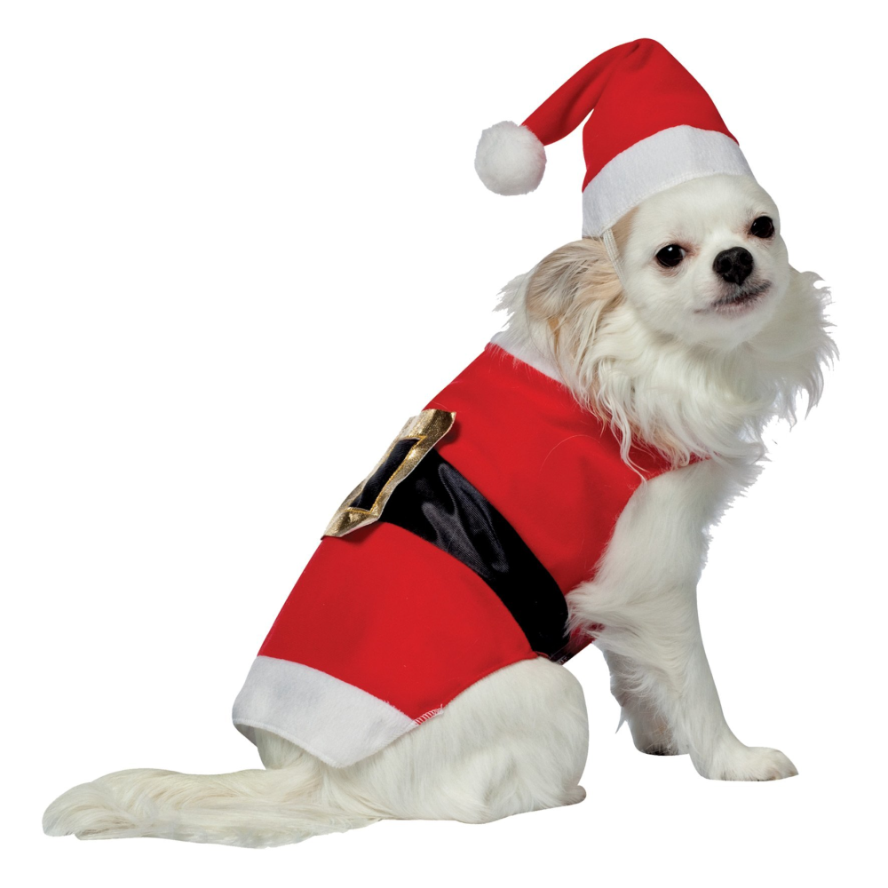 Santa Claus Pet Christmas Holiday Pet Dog Costume with Santa Hat - X-Small