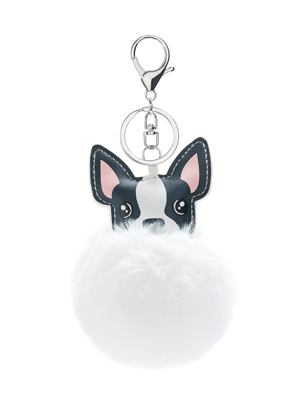 Dog Design Pom Pom Keychain