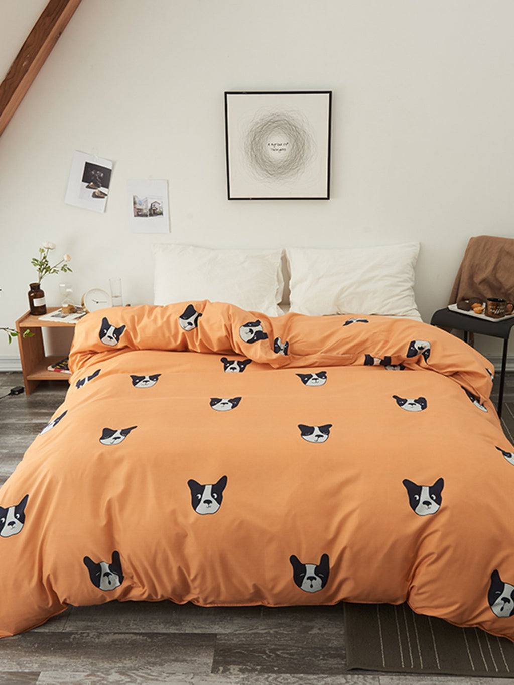 Dog Print Duvet Cover