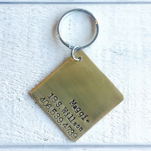 At Ease Artisan Handstamped Pet Dog ID Tag (Personalize)