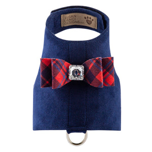 Scotty Bailey Chestnut Plaid Designer UltraSuede Dog Harness