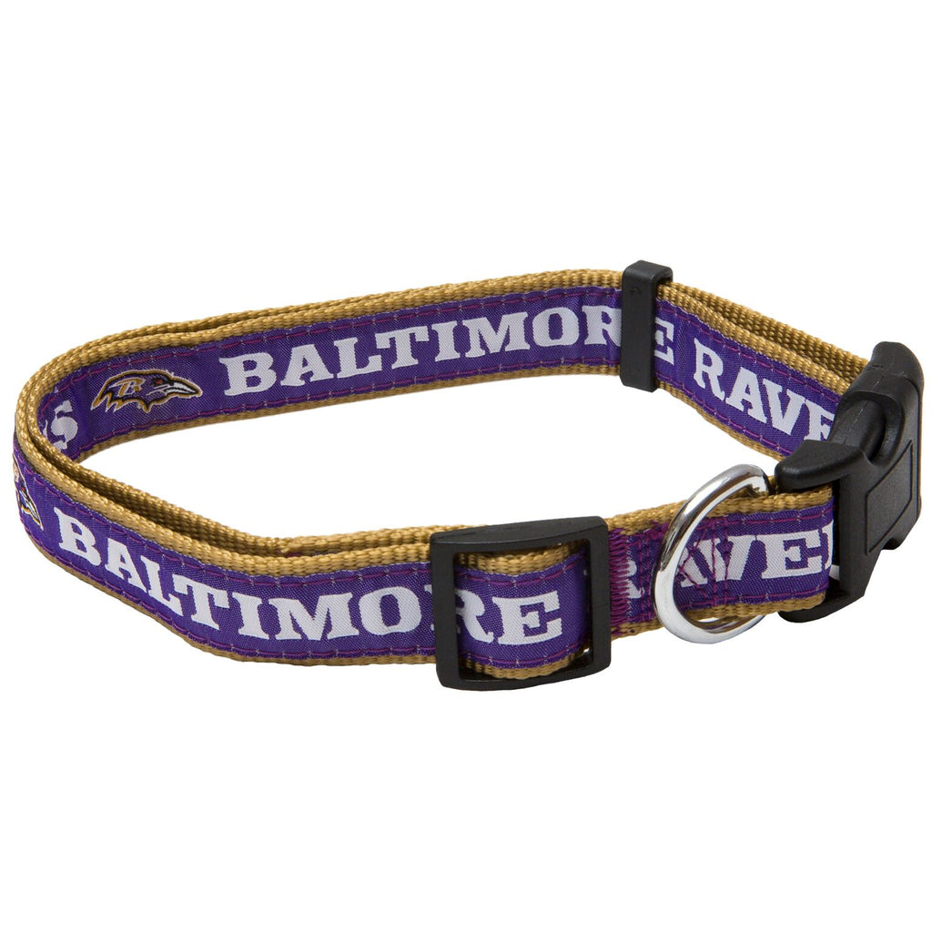 Baltimore Ravens NFL Sports Nylon Ribbon Dog Collar