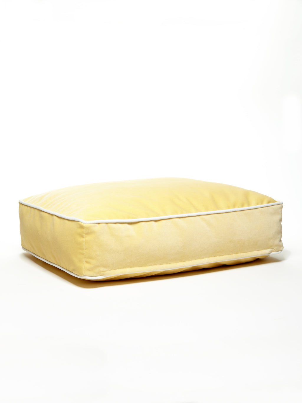 B&G Martin Microsuede Butter Water Resistant White Detail Ultra Luxe Pet Dog Bed (Personalize)