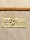 B&G Martin Microsuede Buckwheat Water Resistant Goldenrod Detail Ultra Luxe Pet Dog Bed (Personalize)