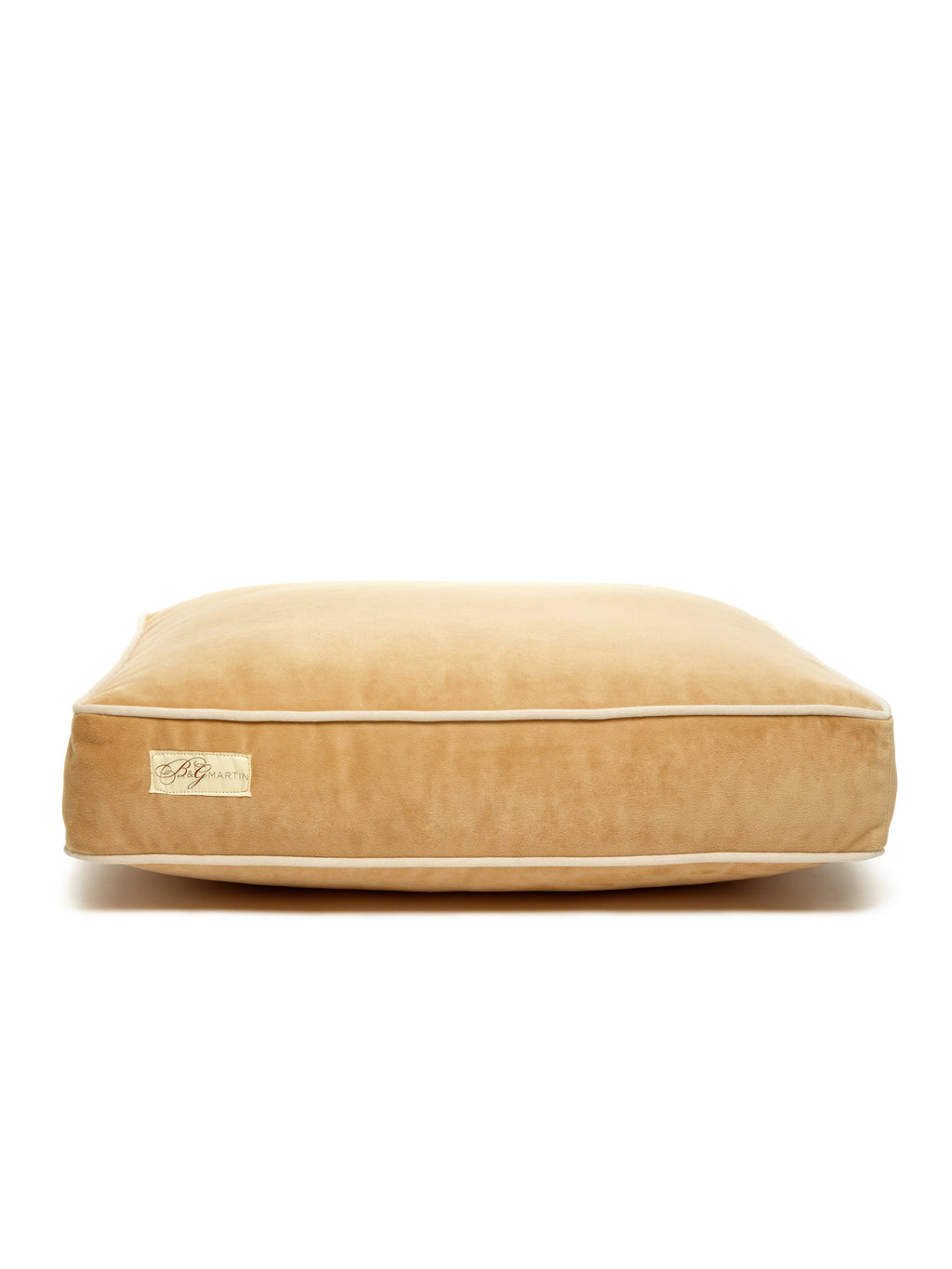 B&G Martin Microsuede Honey Water Resistant Buckwheat Detail Ultra Luxe Pet Dog Bed (Personalize)