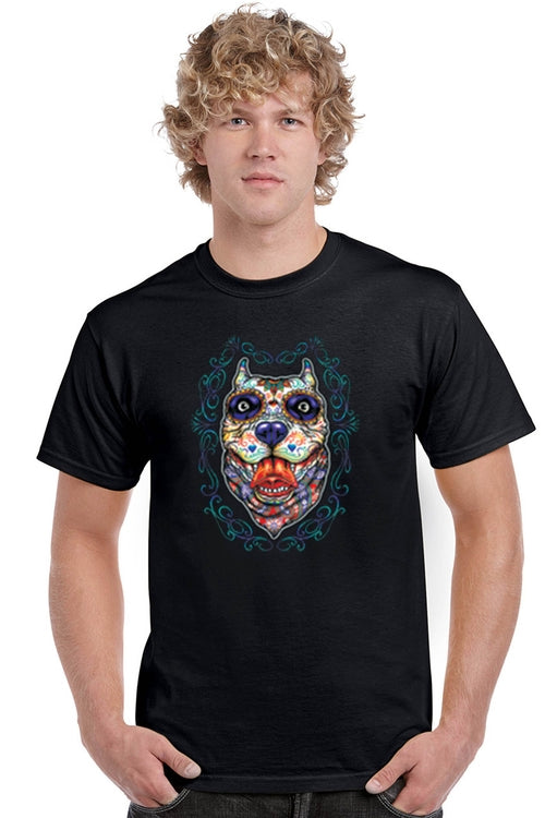 Psychedelic Dog Men's Cotton Tee