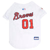 Official Licensed Pet Sports Jersey Apparel - Atlanta Braves Baseball MLB Dog Jersey