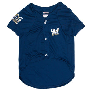Official Licensed Pet Sports Jersey Apparel - Milwaukee Brewers Baseball MLB Dog Jersey