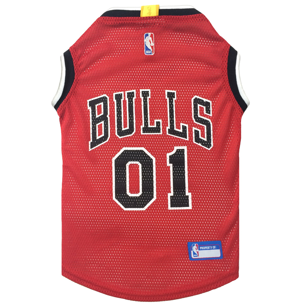 Official Licensed Pet Sports Jersey Apparel - Chicago Bulls Basketball NBA Dog Jersey