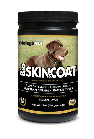 BioSKIN & COAT Natural Antihistamine Formula Dog / Cat Pet Health Supplement