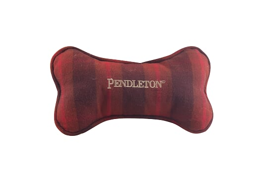 Pendleton Designer Classic Red Plaid Soft Plush Large Bone Pet Dog Toy
