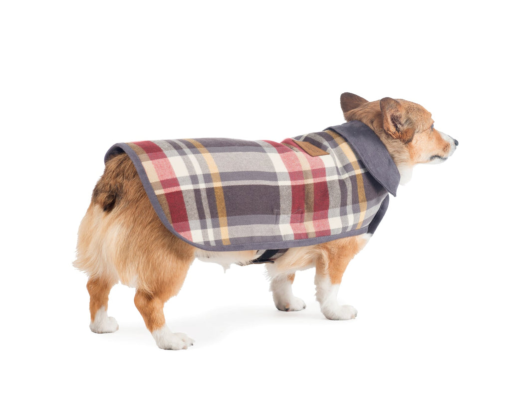Pendleton Designer Breslin Plaid Reversible Warm Luxury Premium Dog Coat Jacket