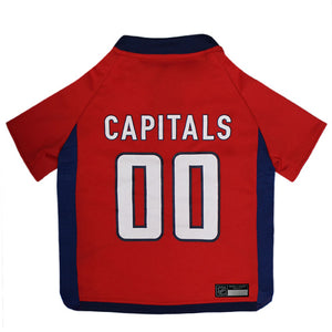 Official Licensed Pet Sports Jersey Apparel - Washington Capitals Hockey NHL Dog Jersey