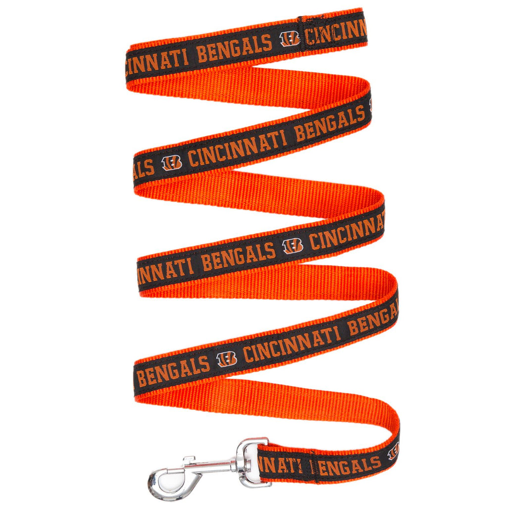 Cincinnati Bengals NFL Football Ribbon Woven Nylon Dog Leash