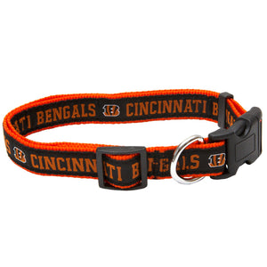 Cincinnati Bengals NFL Sports Nylon Ribbon Dog Collar