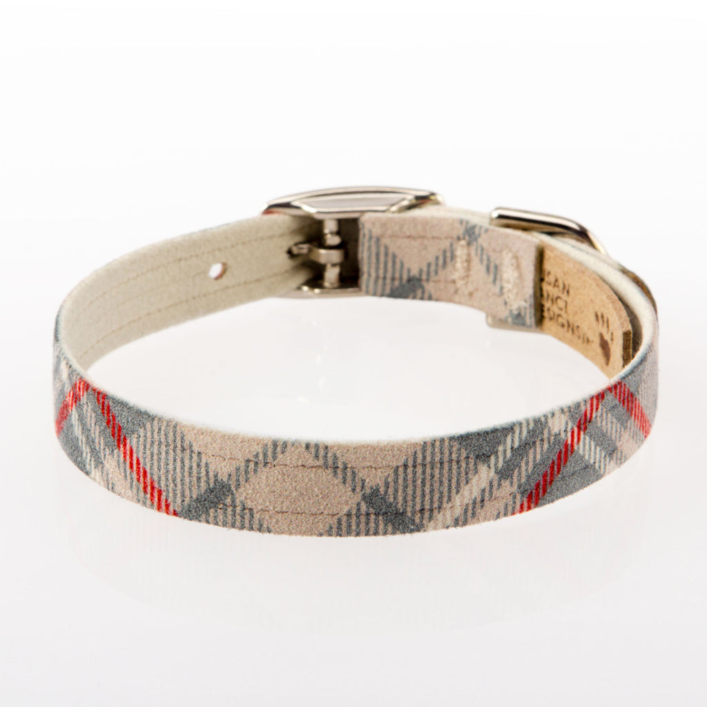 Scotty Doe Plain Plaid Dog Collar