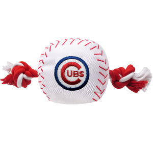 Chicago Cubs Plush Baseball Tug Rope Dog Toy