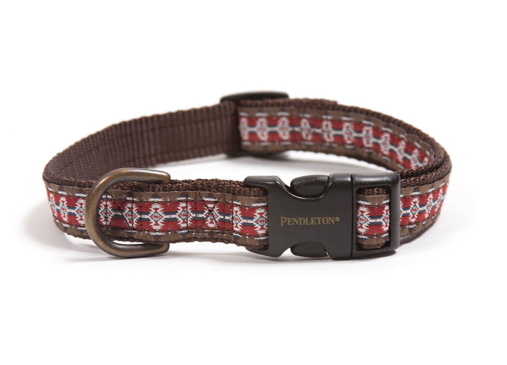 Pendleton Designer Mountain Majesty Red Native Indigenous Design Premium Luxury Dog Collar