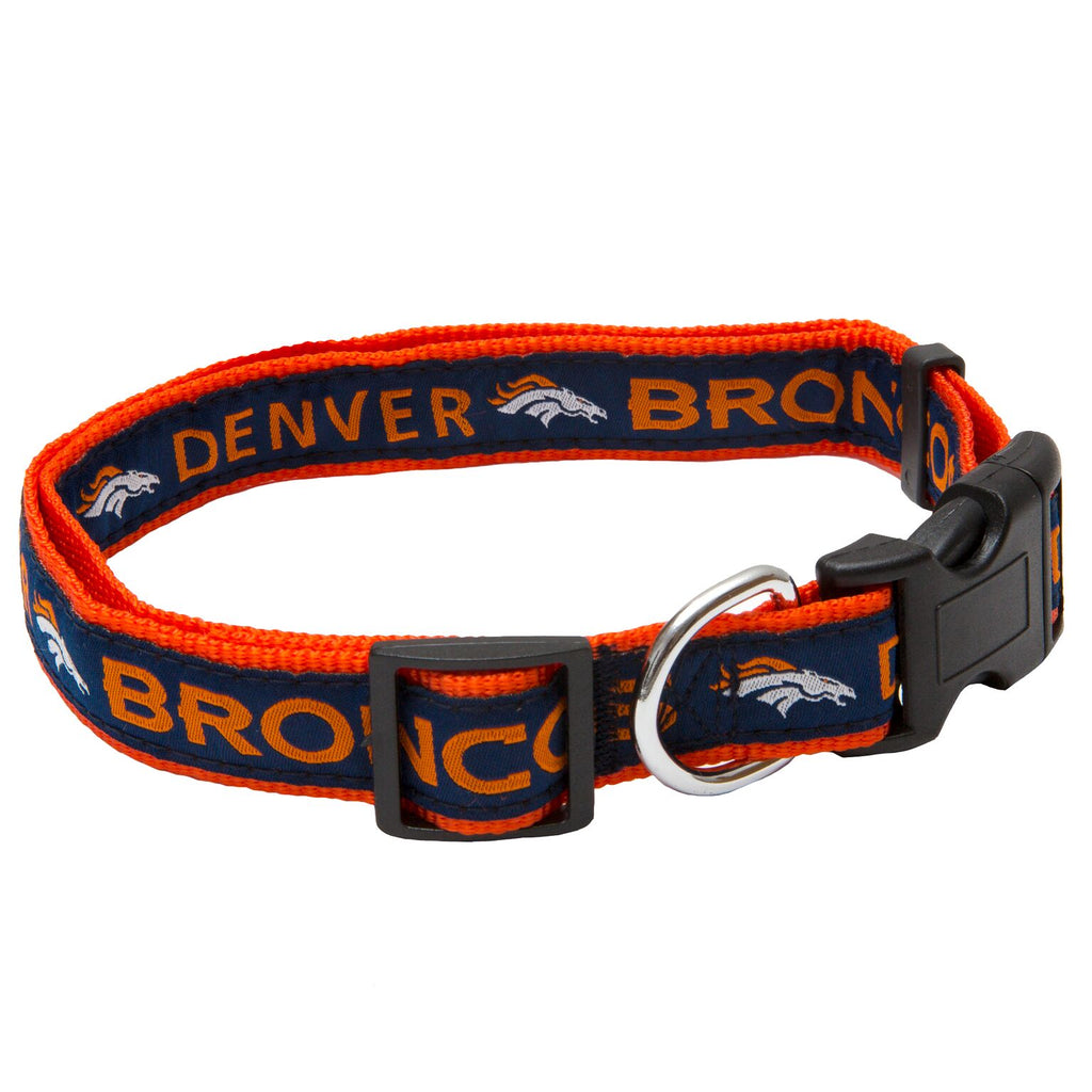 Denver Broncos NFL Sports Nylon Ribbon Dog Collar
