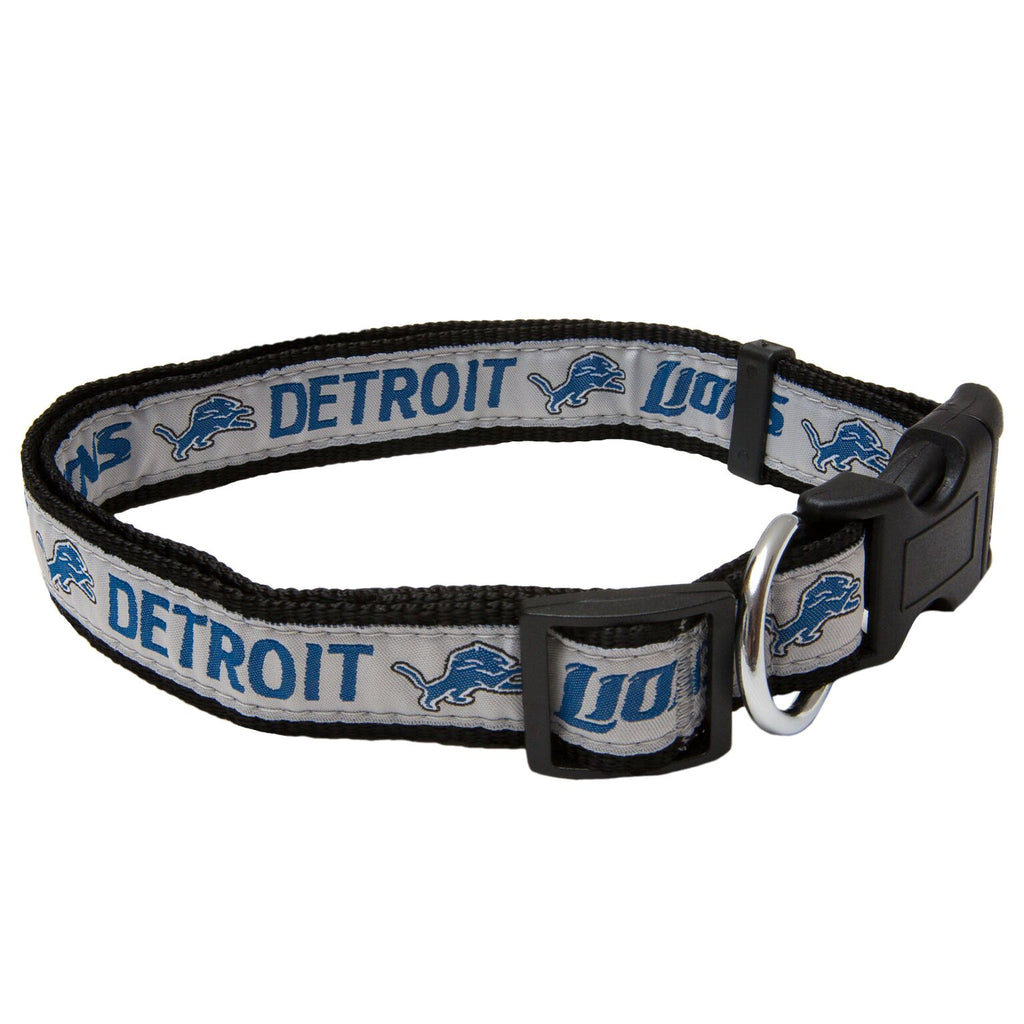 Detroit Lions NFL Sports Nylon Ribbon Dog Collar