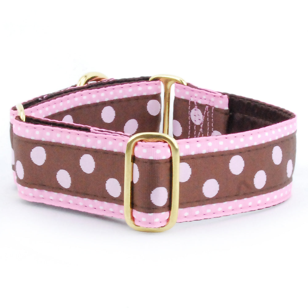 Dots and More Dots Pink Designer Luxury Handmade Dog Collar