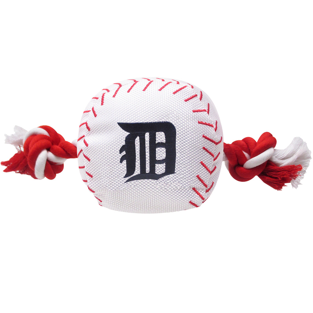 Detroit Tigers Plush Baseball Tug Rope Dog Toy