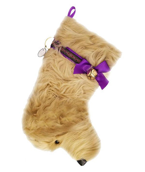 Doodle Faux Fur Handmade Designer Holiday Christmas Dog Stocking