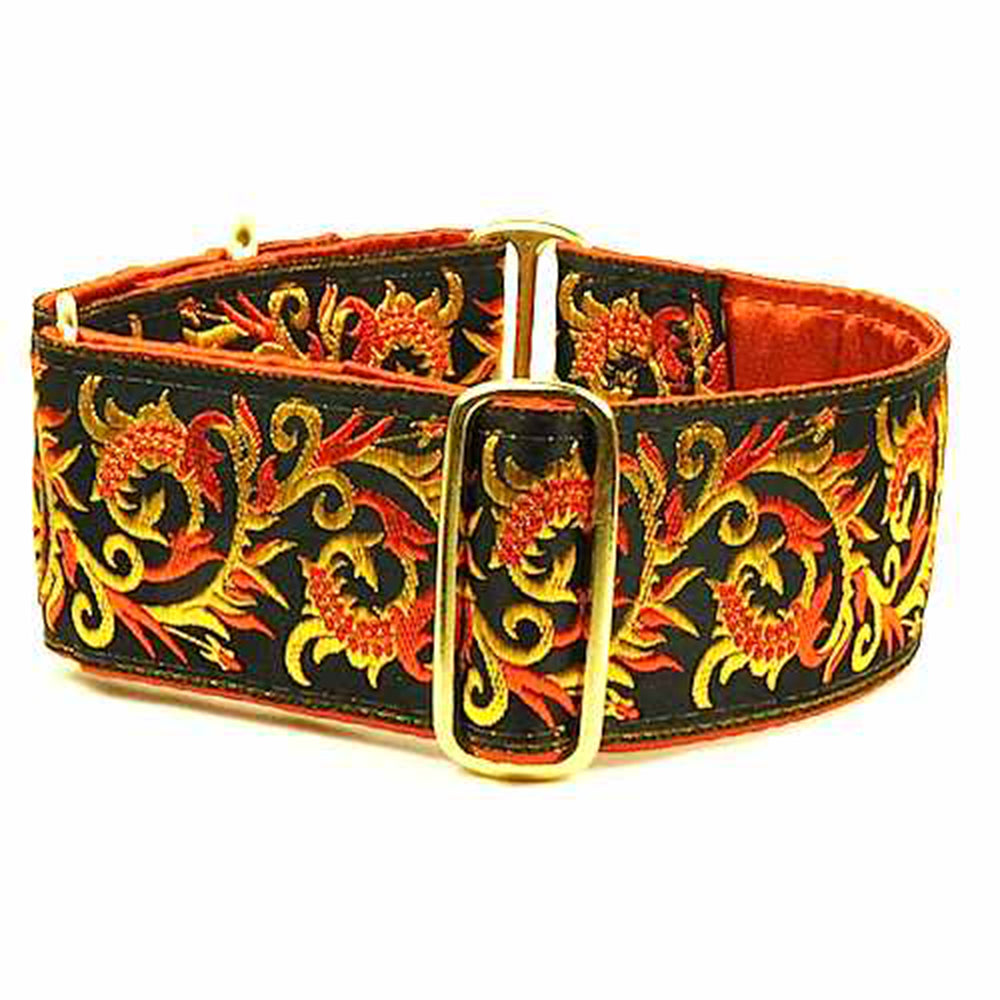 Dragon's Breath Limited Edition Vintage Ribbon Martingale Designer Handmade Dog Collar