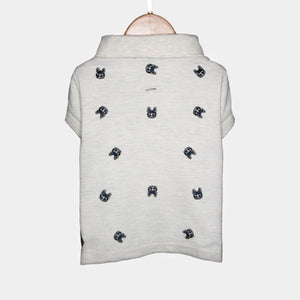 Ellis Polo Barkholic Designer Organic Cotton Modern Dog Shirt