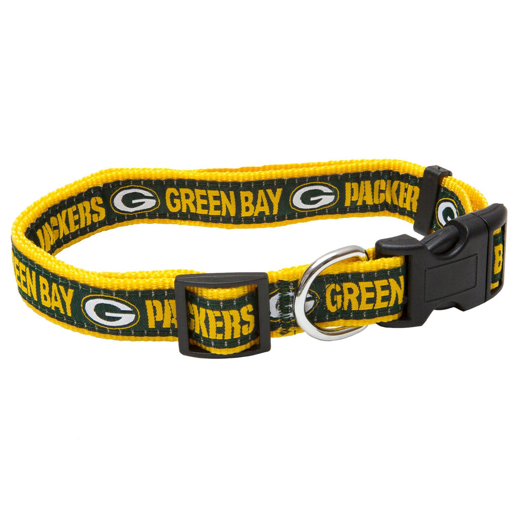 Greenbay Packers NFL Sports Nylon Ribbon Dog Collar