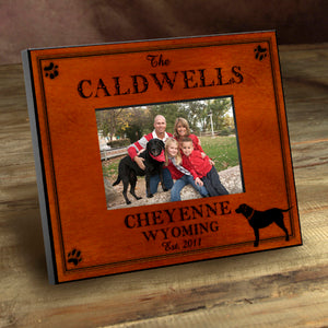 Rustic Cabin Picture Frame - Dog (Personalize)