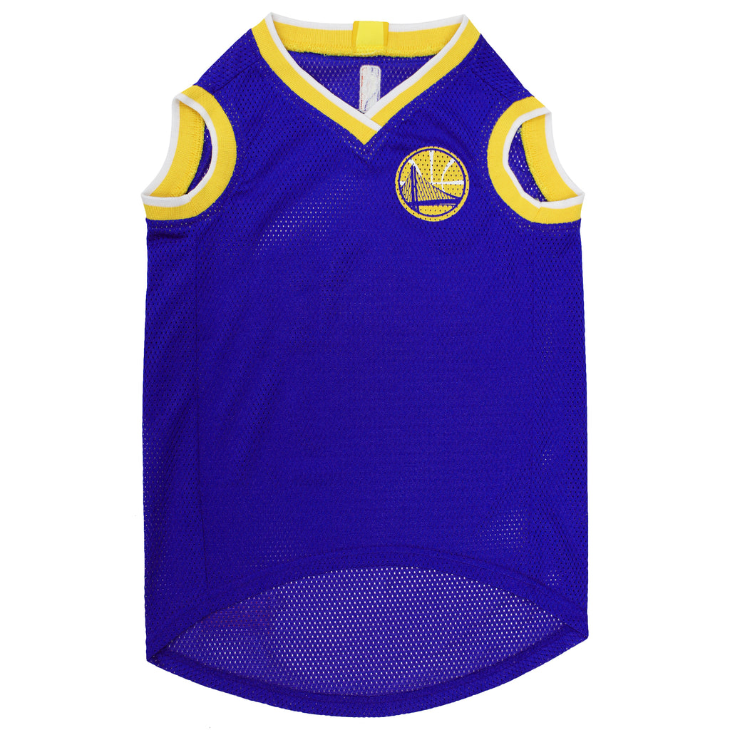 Official Licensed Pet Sports Jersey Apparel - Goldenstate Warriors Basketball NBA Dog Jersey