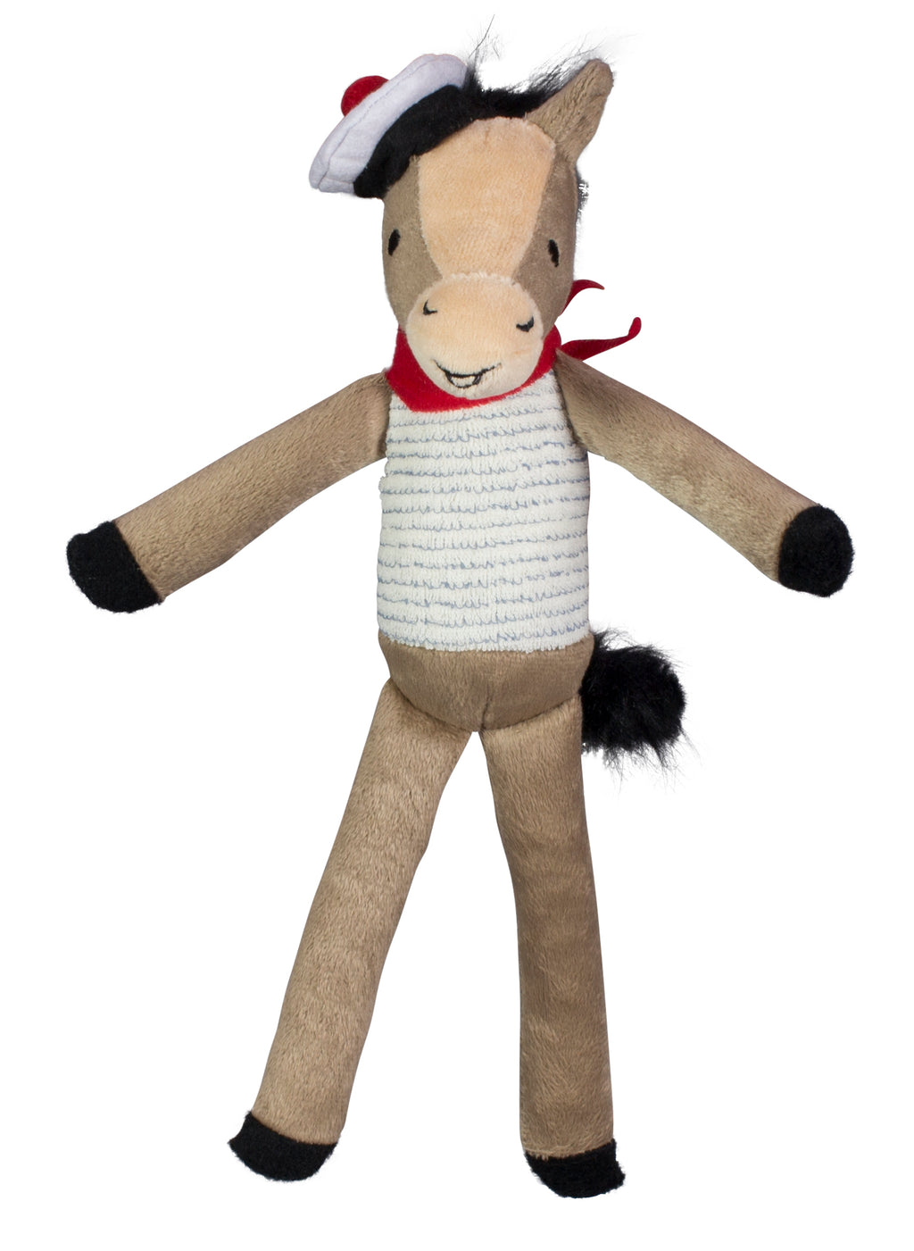 Mon Bebe Gaston Horse B&G Martin Designer Soft Plush Vintage Parisian Dog Toy