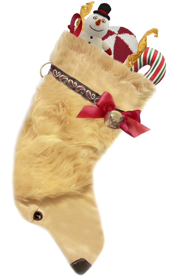 Golden Retriever Handmade Designer Holiday Christmas Dog Stocking