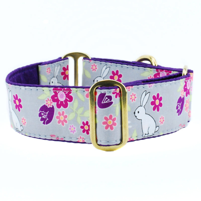 Hop Along Purple Easter Luxury Dog Collar