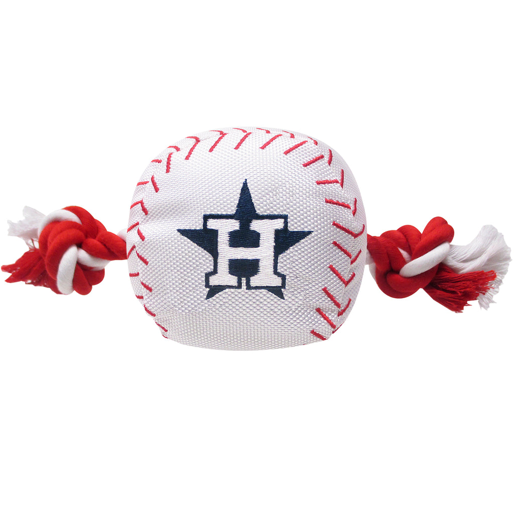 Houston Astros Plush Baseball Tug Rope Dog Toy