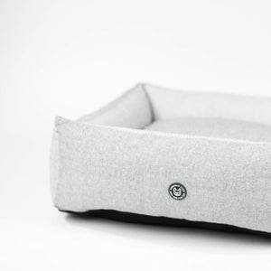 Barkholic Comfort Dream Designer Grey Pet Dog Bed