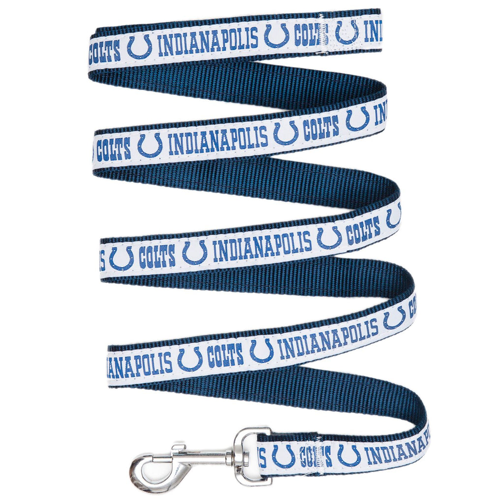 Indianapolis Colts NFL Football Ribbon Woven Nylon Dog Leash