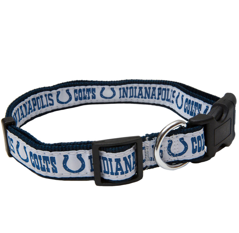 Indianapolis Colts NFL Sports Nylon Ribbon Dog Collar