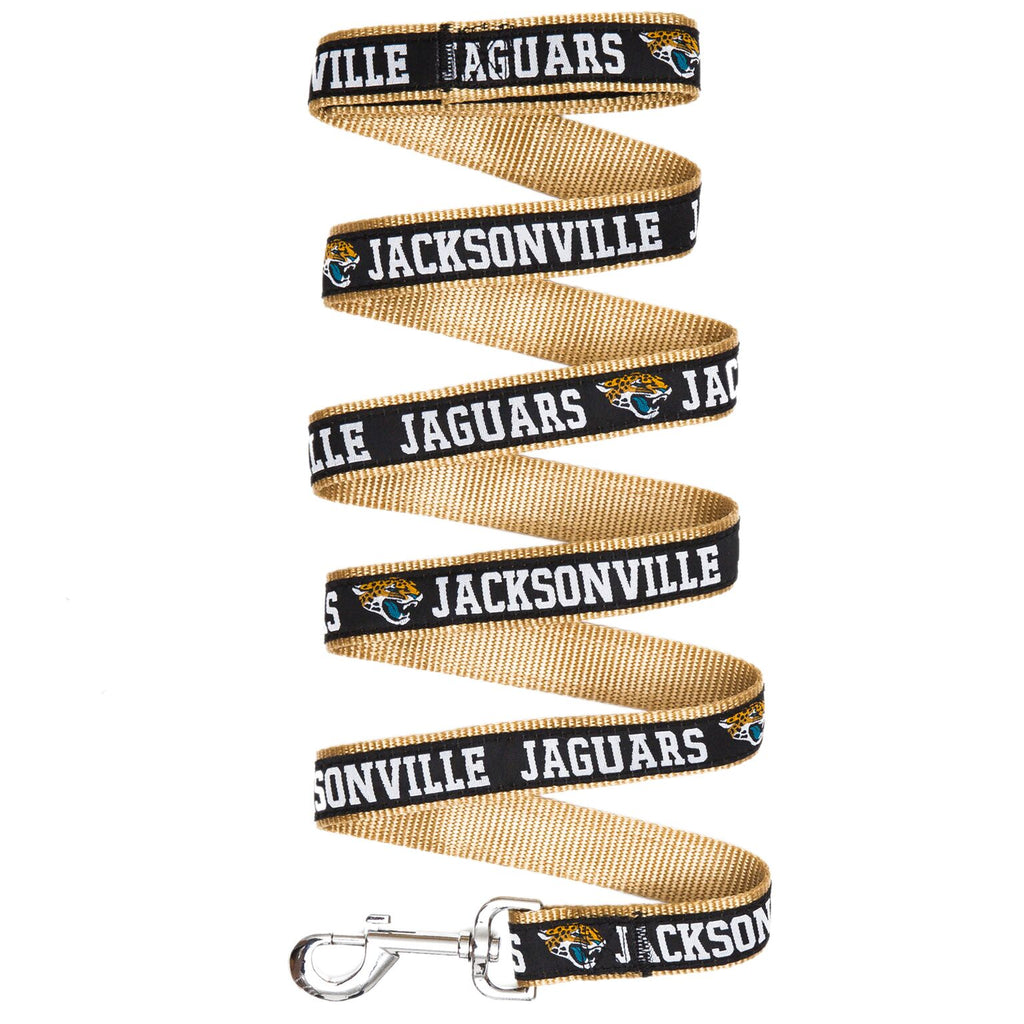 Jacksonville Jaguars NFL Football Ribbon Woven Nylon Dog Leash