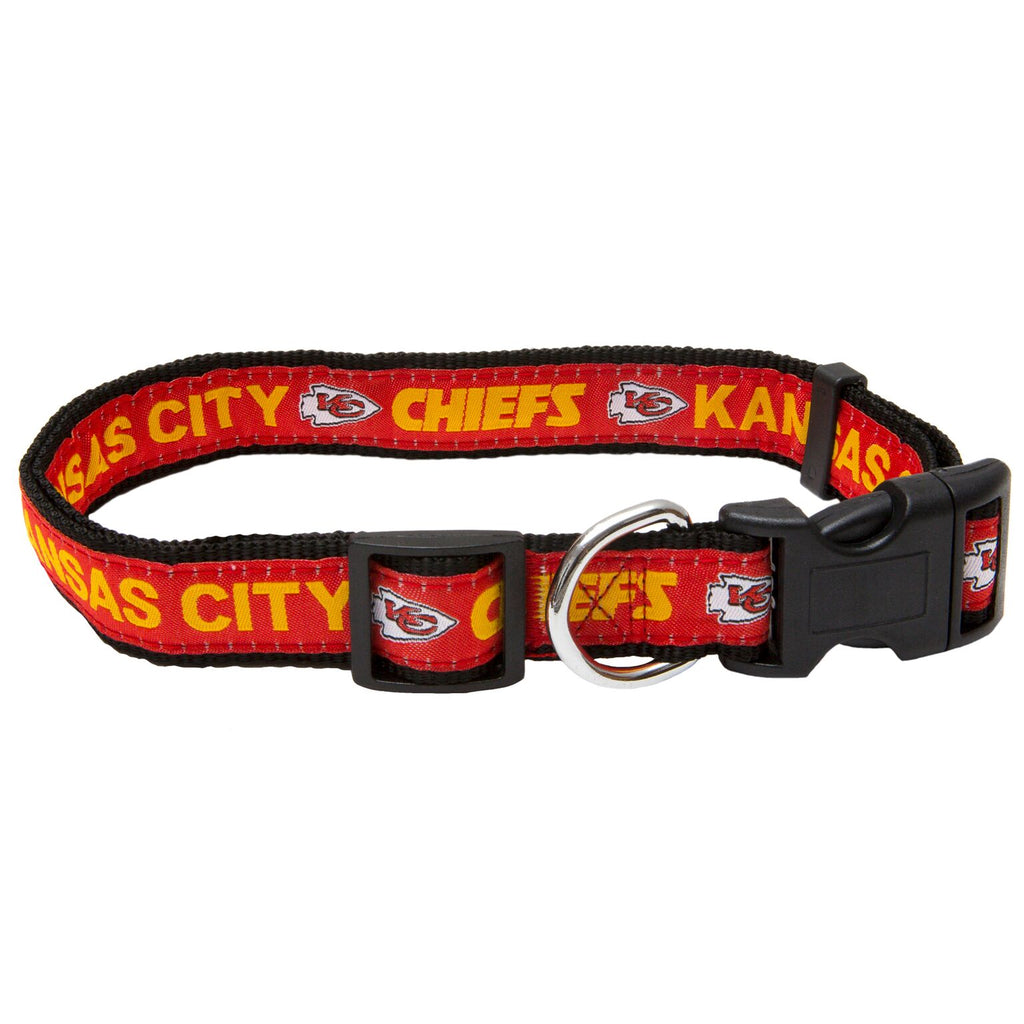 Kansas City Chiefs NFL Sports Nylon Ribbon Dog Collar