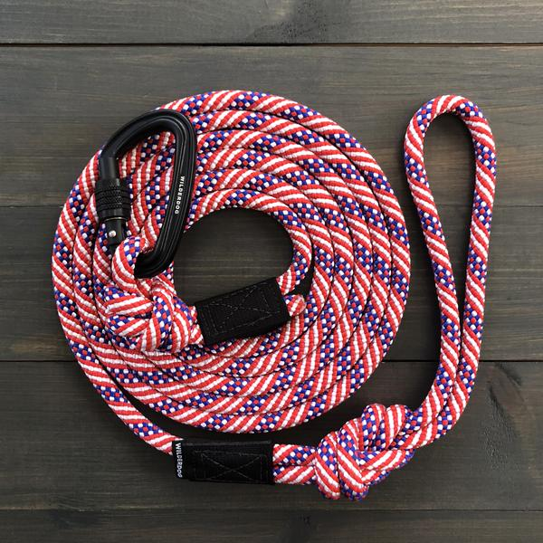 Wilderdog Freebird American USA Patriotic Carabiner Rope Designer Ultra-Durable Dog Leash