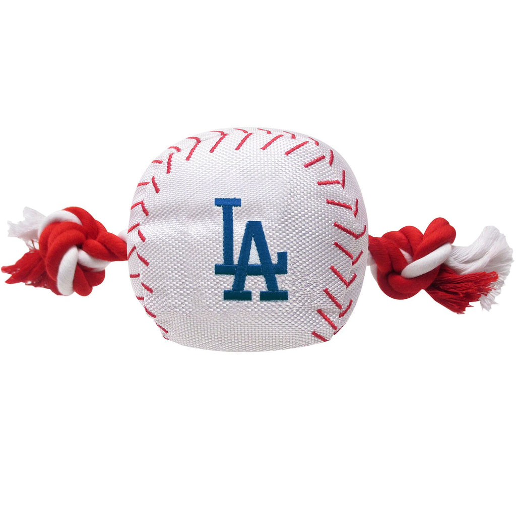 Los Angeles Dodgers Plush Baseball Tug Rope Dog Toy