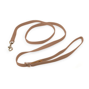 Fawn Tan Solid Plain Stain & Discoloration-Resistant Soft UltraSuede Premium Luxury Designer Dog Leash