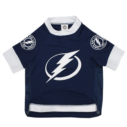 Official Licensed Pet Sports Jersey Apparel - Tampa Bay Lightning Hockey NHL Dog Jersey