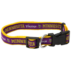 Minnesota Vikings NFL Sports Nylon Ribbon Dog Collar