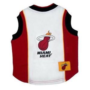 Official Licensed Pet Sports Jersey Apparel - Miami Heat Basketball NBA Dog Jersey
