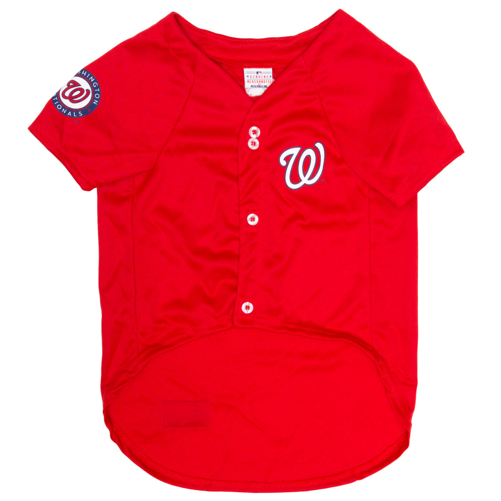 Official Licensed Pet Sports Jersey Apparel - Washington Nationals Baseball MLB Dog Jersey